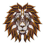 Lion head zentangle, doodle stylized, vector, illustration, hand Royalty Free Stock Photography