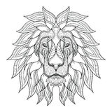 Lion head zentangle, doodle stylized, vector, illustration, hand. Lion head zentangle stylized, vector, illustration, freehand pencil, hand drawn, pattern. Zen Royalty Free Stock Photos