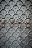 Lion Heads Cathedral Door Venice Italy Stock Image