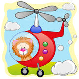 Lion in helicopter Royalty Free Stock Image