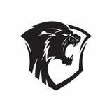 Lion heraldic logo Royalty Free Stock Image