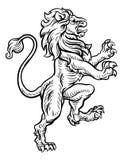 Lion Heraldic Style Drawing Royaltyfri Foto