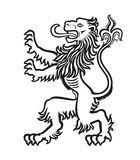 LION Heraldic Stylized 01 illustrazione di stock
