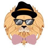 Lion Hipster Stock Photos