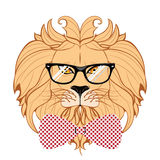 Lion Hipster Royalty Free Stock Photo