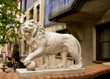Lion of the Hunderwasser House Royalty Free Stock Photography