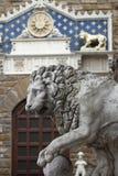 Lion i Florence Royaltyfria Bilder