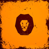 Lion Icon Stock Photography