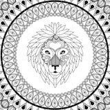 Lion Icon Animal et conception prédatrice ornementale Dessin de vecteur Illustration Libre de Droits