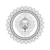 Lion icon. Animal and Ornamental predator design. Vector graphic Royalty Free Stock Photography