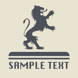 Lion icon or sign. Abstract illustration Stock Illustration