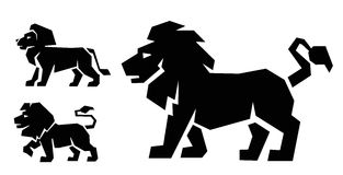 Lion icon vector Stock Photography