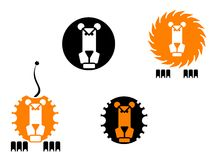 Lion icons stock image