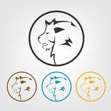 Lion icons Stock Photography