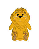 Lion Illustration. For Children's Book or Greeting Card Stock Images