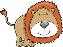 Lion Illustration. Cute Safari Lion Vector Illustration Stock Images