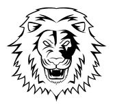 Lion. Illustrator desain .eps 10 Stock Illustration