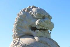 Lion impérial de gardien, Chen Tien Temple - Foz font Iguaçu, Brésil photos stock
