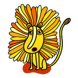 Lion jaune d'hurlement Photos stock
