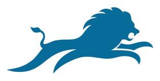 Lion Jump semplice Fotografia Stock