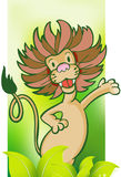 Lion with Jungle Background Royalty Free Stock Photo