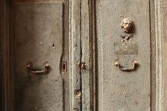 Lion Keyhole Door fotografie stock libere da diritti