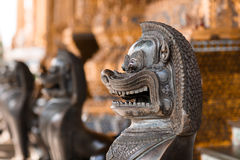 Lion, Khmer mythical creature. Thailand Grand Palace stock images