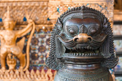 Lion, Khmer mythical creature. Thailand Grand Palace Stock Photos