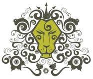 Lion king. Cute lion king pattern design.vector illustation Royalty Free Stock Photos