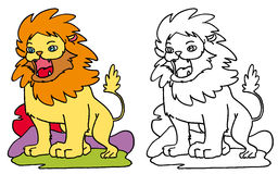 Lion King of the animals Royalty Free Stock Photo