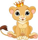 Lion king cub. A cute character lion king cub vector illustration