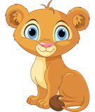 Lion king cub. A cute character lion king cub royalty free illustration