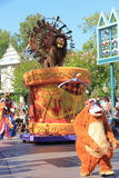 Lion King in Disney Parade Royalty Free Stock Image