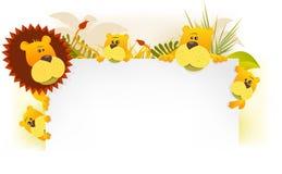 Lion King Family Background vector illustration