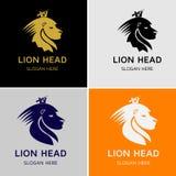 Lion King Head Vector Logo Immagini Stock