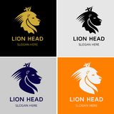 Lion King Head Vector Logo Stock Images