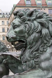 Lion on King Karl XIII by Fogelberg, King's Garden - Kungstrad Stock Photos