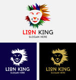 Lion King Logo Design Royalty Free Stock Image