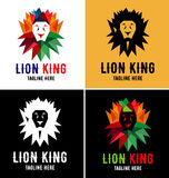 Lion King Logo Design Template Stock Image