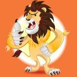 Lion King van Dierenmascotte stock illustratie