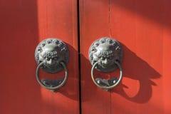 Lion knob Stock Photo