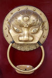 Lion knocker Stock Photography