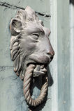Lion knocker. Doors with door knocker in the shape of lion head Royalty Free Stock Images