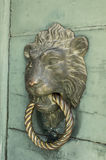 Lion knocker. Doors with door knocker in the shape of lion head Royalty Free Stock Photography