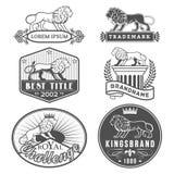 Lion labels Stock Photos