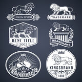 Lion labels white Royalty Free Stock Photo