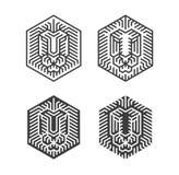 Lion Leads Logos ilustración del vector