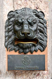 Lion letterbox Royalty Free Stock Images