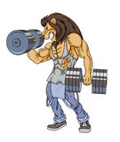 Lion lifter Stock Images