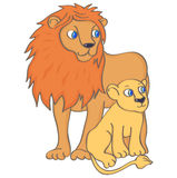 Lion and lion cub Stock Photography